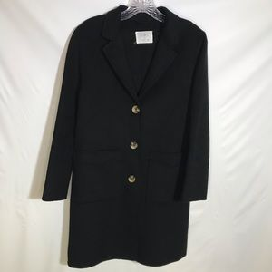 Zara kids classic wool blend button coat